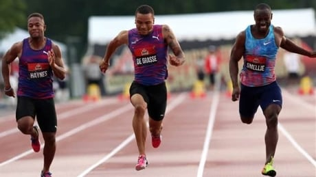 Andre De Grasse wins 100m national championship, qualifies for worlds