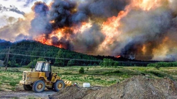 Lightning has sparked several wildfires near Williams Lake, B.C.