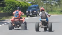 ATV riders in Colliers