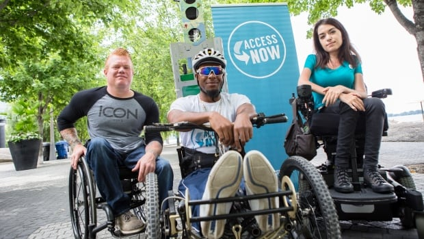 From left to right, Jeff Adams, Anthony Lue and Maayan Ziv are a part of the team that's mapping the Pan Am Path to highlight accessible areas.