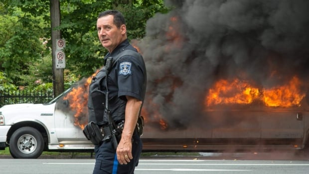 A stretch limo caught fire on Spring garden Road in Halifax Saturday afternoon.
