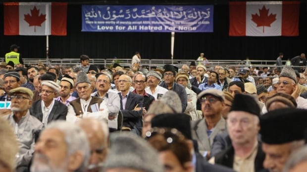 Participants at an annual conference at the International Centre held by the Ahmadiyya Muslim community.