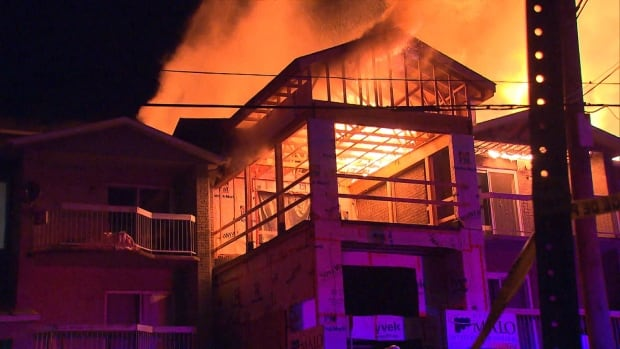 13 hospitalized after fire tears through seniors' residence north of Montreal