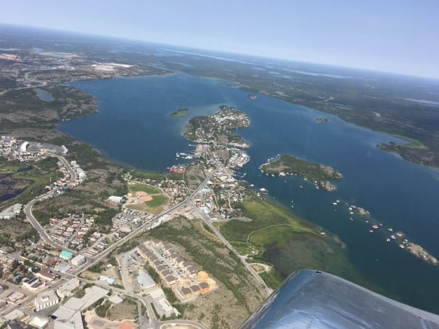 Yellowknife Old Town aerial