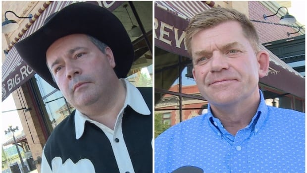 PC Leader Jason Kenney, left, and Wildrose Leader Brian Jean have been pitching the unity deal to members of their respective parties over the last two months.