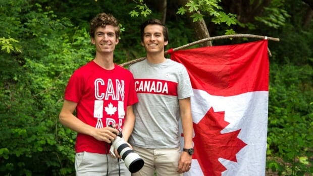With little more than $150, a bunch of camera gear and a handful of Canada-themed outfits, Ori Nevares and Phil Roberge are travelling light.