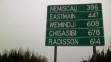 Signage on James Bay Highway