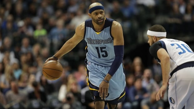 Vince Carter played the past three seasons with the Memphis Grizzlies.