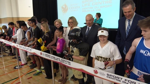 Young Manitoba athletes helped cut the ribbon on the new Canada Games Sport for Life Centre on Tuesday.