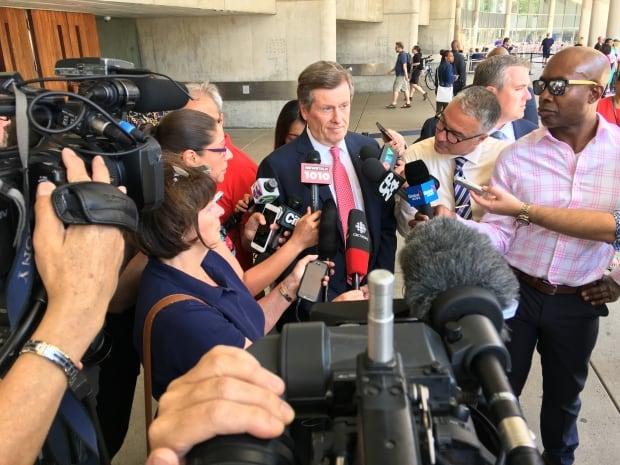 Toronto Mayor John Tory Media Scrum