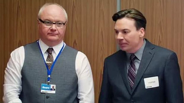 Peter Myers, left, and his famous brother, comedian Mike Myers, starred in a 2014 Sears Canada ad pushing the message that Sears wasn't closing down.
