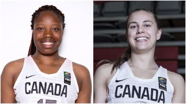 Angela Bongomin (left) and Libby Epoch (right) are both from Saskatchewan and play for Canada's under 19 women's national basketball team.