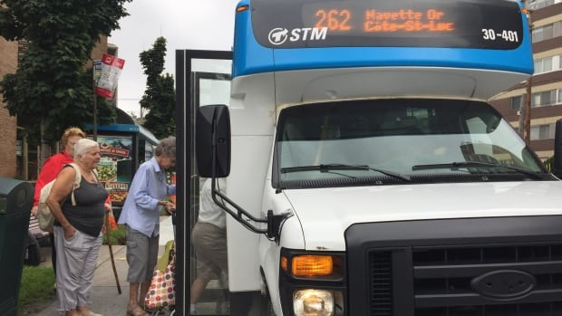 A group of seniors in Côte Saint-Luc are asking the STM to extend a shuttle bus service that runs to Angrignon mall.
