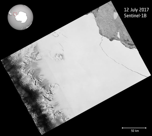 Larsen c breaks off antarctica