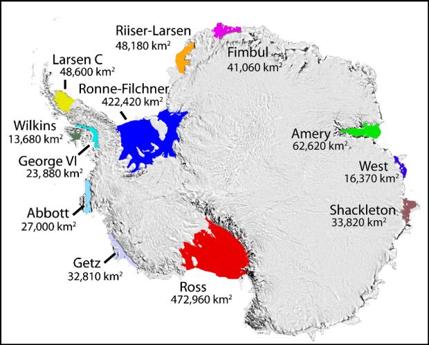 Ice shelves Antarctic