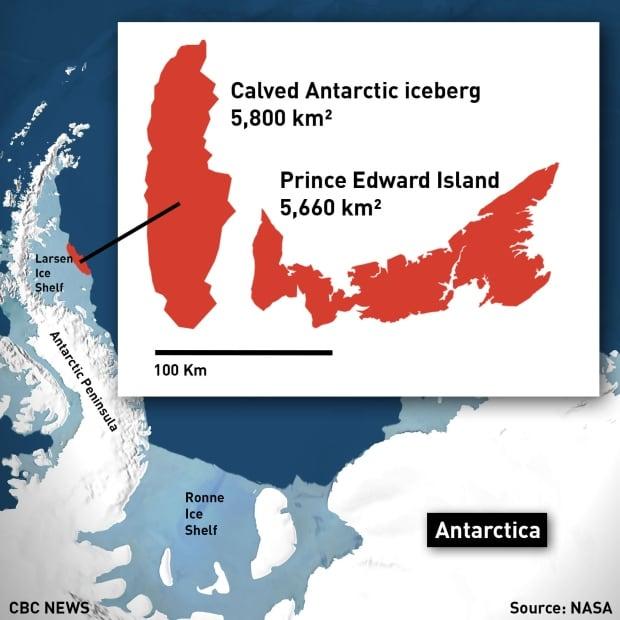 Antarctic Larsen C iceberg