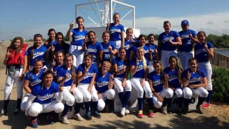 B.C. U19 softball team at NAIG 2014