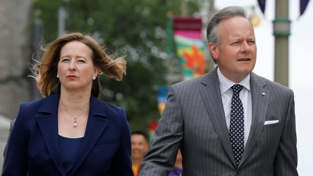 Canada's central bankers Carolyn Wilkins and Stephen Poloz may have looked dour on their way to yesterday's news conference, but they painted a happy face on the Canadian economy once they arrived.