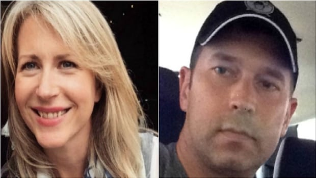Search and Rescue crews believe Sophie Dowsley, 34, (left) and Gregory James Tiffin, 44 (right) set out for a day hike on the trails near Statlu Lake. They haven't been seen since Saturday.