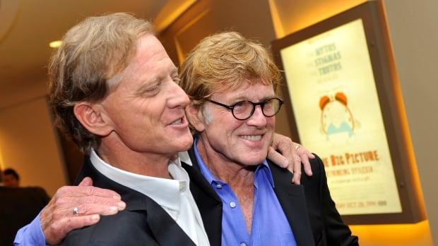 Jamie Redford and his father, actor Robert Redford, arrive for a premiere in 2012. Jamie Redford will be on the Island this week for PEI Fest.