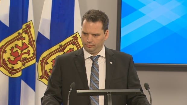Acting Labour and Advanced Education Minister Derek Mombourquette