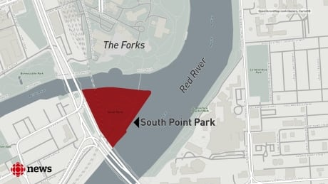 South Point Park map The Forks