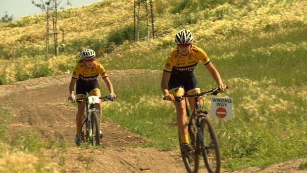 Rebecca Man Chloe Penner mountain biking