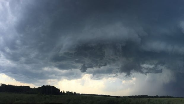 Photographer and storm chaser Beth Allan watched dark clouds unfurl over Drayton Valley on Thursday.