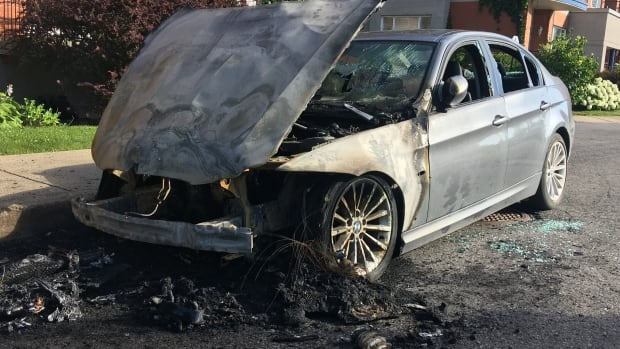 Two high-end cars were deliberately set on fire July 14 in Saint-Henri. Police haven't linked the fires to other anti-gentrification crimes in the neighbourhood, but say they fit a pattern.