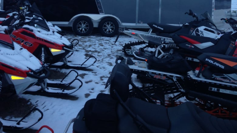 Dodge Dealership Saskatoon >> The stolen snowmobiles and trailer are shown here. (Submitted by RCMP)