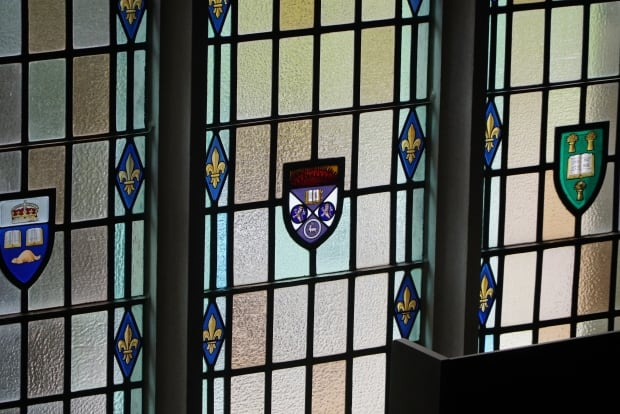 Stain glass, conron hall, western university