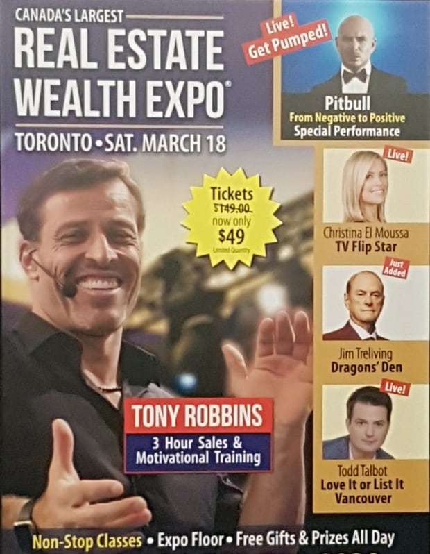 Real Estate Wealth Expo poster shot in Toronto subway