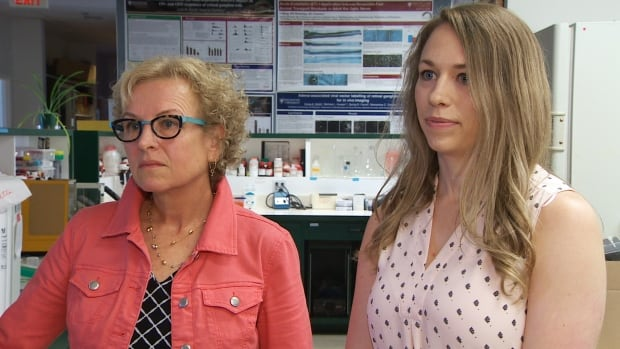 Dr. Melanie Kelly, left, and Elizabeth Cairns, right, say there are many reasons to keep medicinal and recreational cannabis in separate streams.