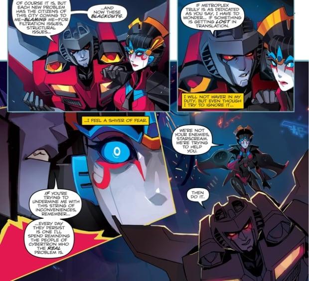Transformers Starscream and Windblade