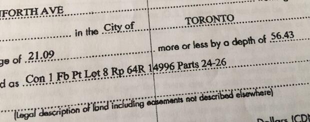 Toronto property documents