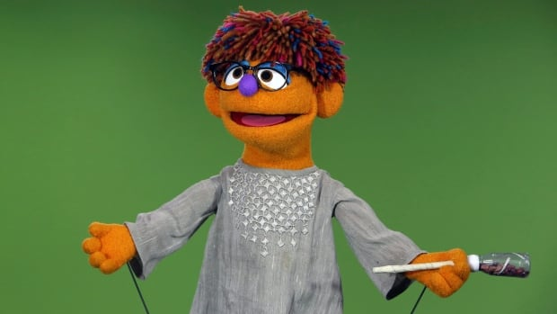 Sesame Street's new Afghan character, a 4-year-old Afghan boy puppet named Zeerak, performs during the taping for the sixth season of the Afghan version of Sesame Street, called Baghch-e-Simsim, in Kabul, Afghanistan.