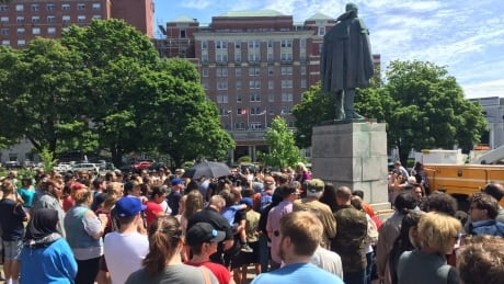 Cornwallis statue protest