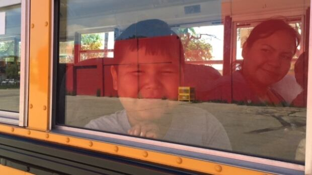 Around 20 people, most of them children, boarded the bus for the Ikwe Safe Rides trip to Birds Hill Park Saturday.