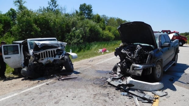 8 passengers, including 4 from the Jeep and 4 from the truck, were injured in the crash.