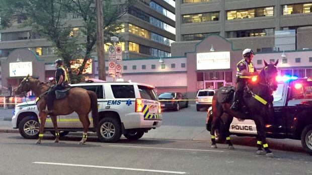 Calgary police investigate a stabbing in the downtown core.