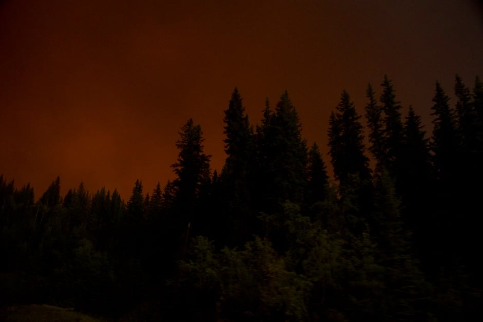 BC Wildfire Loon Lake Red Smoke