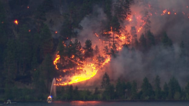 Human-caused Harrison Lake fire grows in size