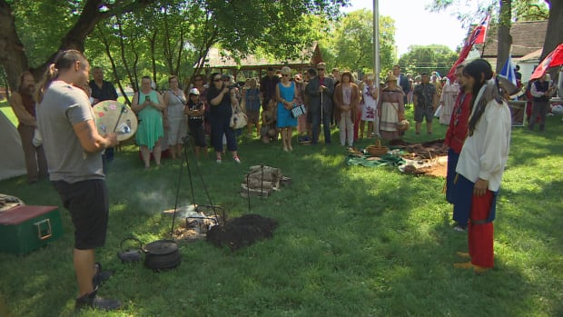 A re-enactment of the treaty signing was hosted at Seven Oaks House Museum and performed by the Manitoba Living History Society Sunday morning.