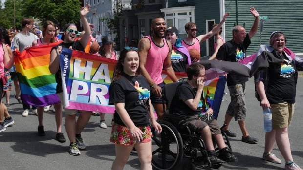 Marchers took the streets of downtown St. John's on Sunday for the annual Pride parade.