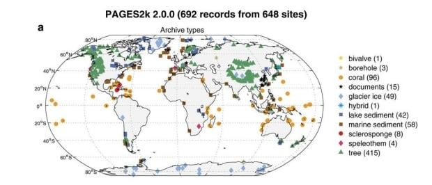 Climate change database