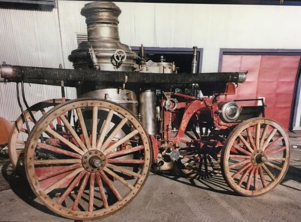 Before restoring the 1890s steam pumper