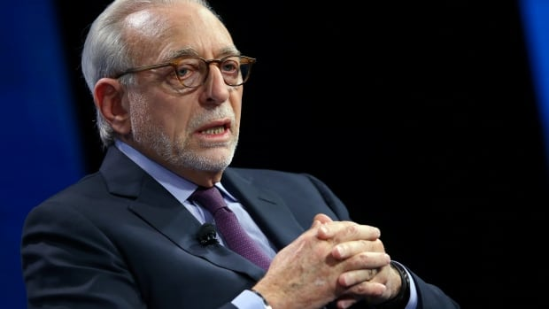 Nelson Peltz speaks at a Live conference in Laguna Beach, Calif., in this Oct. 2016 photo.  Peltz's Trian Fund Management LP, which owns about $3.3 billion US worth of shares at Procter & Gamble, is seeking a seat on the company's board.