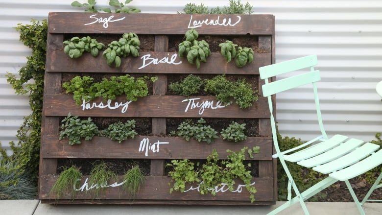 Hanging Herb Garden Outdoor Pallet