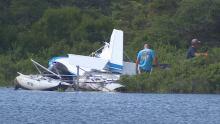 Crashed plane paddy's pond crew