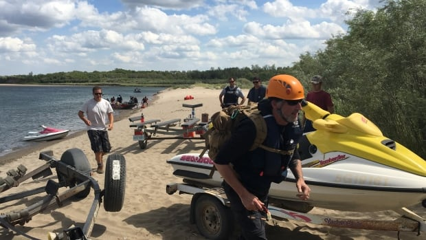 The search continues for a missing teenage boy who was last seen swimming in a river south of Saskatoon.